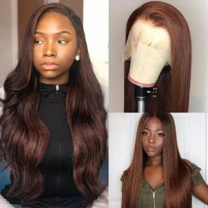 #4 Straight And Body Wave 13*4 Lace Front Wigs Pre-plucked With Baby Hair 150%-200% Density