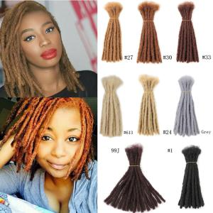 "10"" 20 Dreads Short Crochet Dreadlocks Synthetic Blunt Ends Braided Locs Hair Extensions"