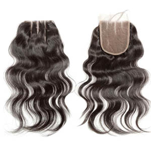 "10""-20"" 3 Part Virgin Brazilian Remy Hair Lace Top Closure(5""*5"") Loose Wavy"