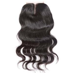 "10""-20"" Middle Part Brazilian Virgin Hair Loose Wavy Lace Closure(4""*4"") Natural Color"