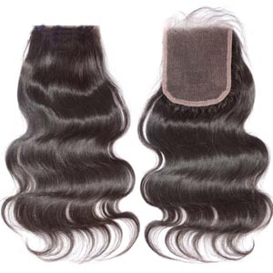 "10""-20"" Virgin Brazilian Hair Body Wave Top Lace Closure(4""*4"") Free Style #2 Dark Brown"