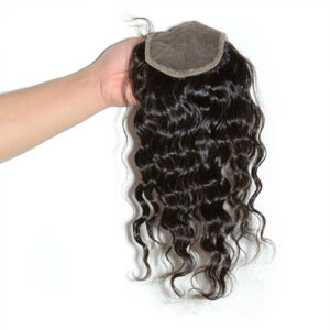 "10""-20"" Virgin Brazilian Hair Loose Wavy Top Lace Closure(4""*4"") Free Style Natural Color"