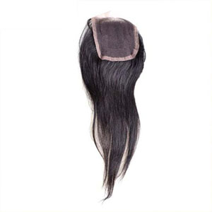 """10""""-20"""" Virgin Brazilian Hair Straight Top Lace Closure(4""""*4"""") Free Style Natural Color"""