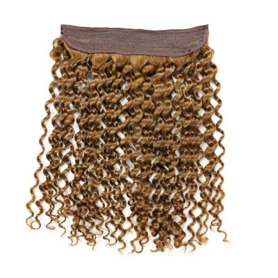10 - 24 Inch Halo Human Hair Extensions Kinky Curly