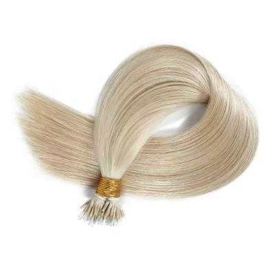 10 - 30 Inch Nano Ring Hair Extensions Real Hair Extensions 100S #613