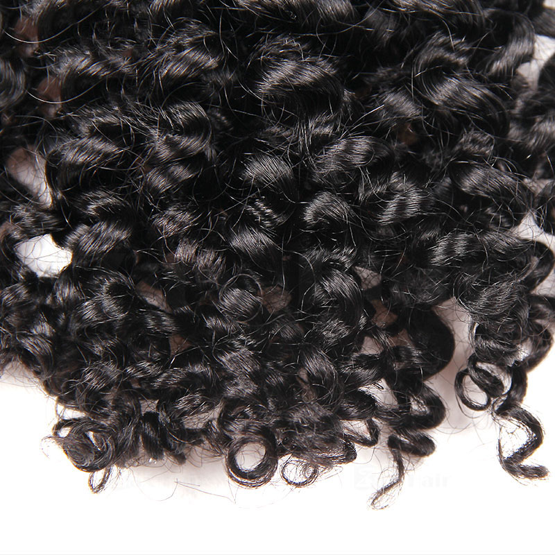 10 - 30 Inch Tape In Remy Human Hair Extensions  #1B Natural Black Afro Curl 20 Pcs 4