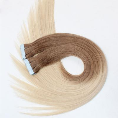 10 - 30 Inch Tape In Remy Human Hair Extensions Ombre #28/60 20Pcs