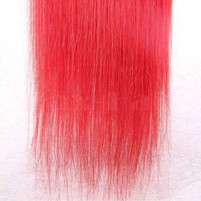 10 - 30 Inch Tape In Remy Human Hair Extensions Red Straight 20 Pcs 3