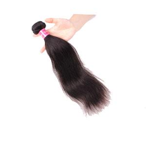 10 Inch - 34 Inch Virgin Brazilian Hair Straight #1B Natural Black 1pc/Lot