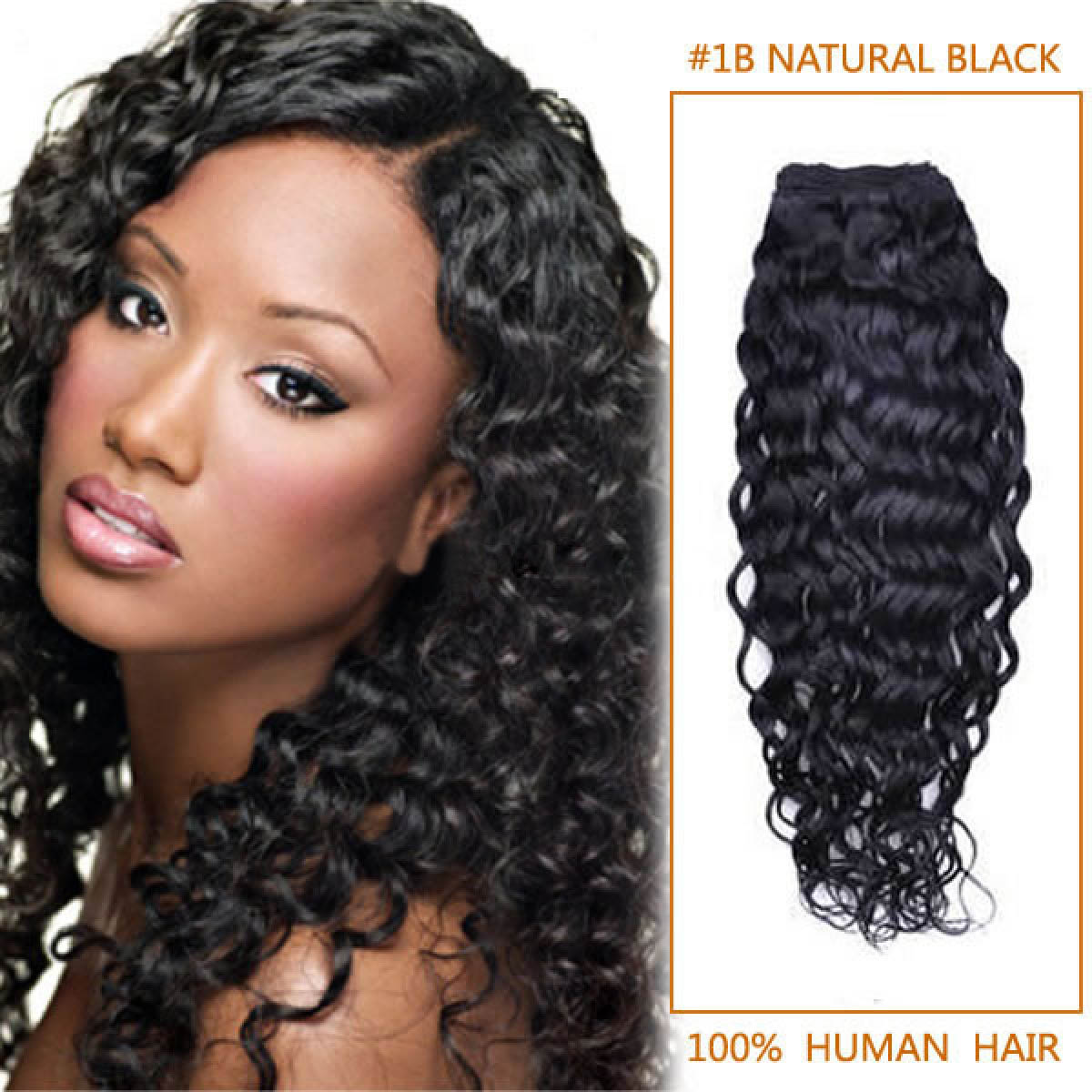 10 Inch  1b Natural Black Curly Indian Remy Hair Wefts 7431497a9