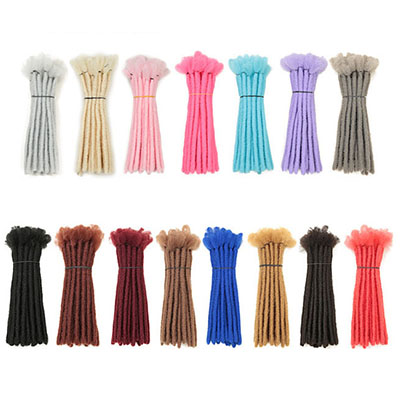 10 Inch 25 Dreads Handmade Dreadlocks Hair Extensions Synthetic Loc Extensions 15 Colors