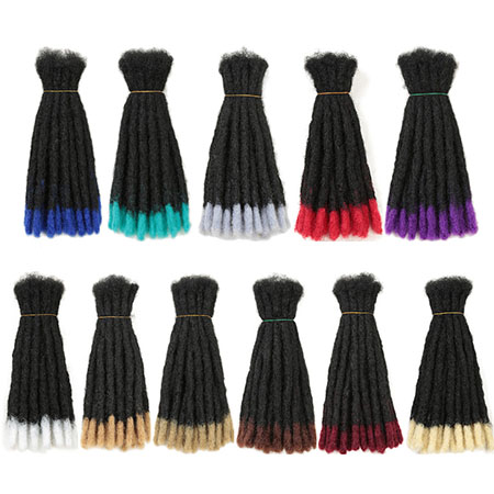 10 Inch 20 Dreads Handmade Dreadlocks Hair Extensions Synthetic Ombre Hair For Black Women And Men 11 Colors
