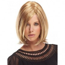 10 Inch Straight Short Full Lace Wigs #16 Golden Blonde
