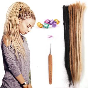 100% Real Human Hair Dreadlocks 20inch 50cm Handmade Braiding Rasta Dreads Locs