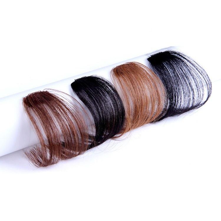 100% Human Hair Air Bangs With Temples/No Sideburns Mini Fashion Clip In Hair Extension