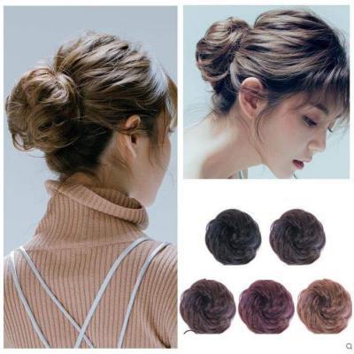 100% Human Hair Curly Buns Chignon Hair Pieces for Women & Kids