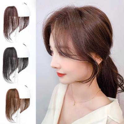 100% Human Hair Long Bangs Clip Remy Hair Side Bangs Hair Extensions Invisible Bangs Hair Piece 25CM