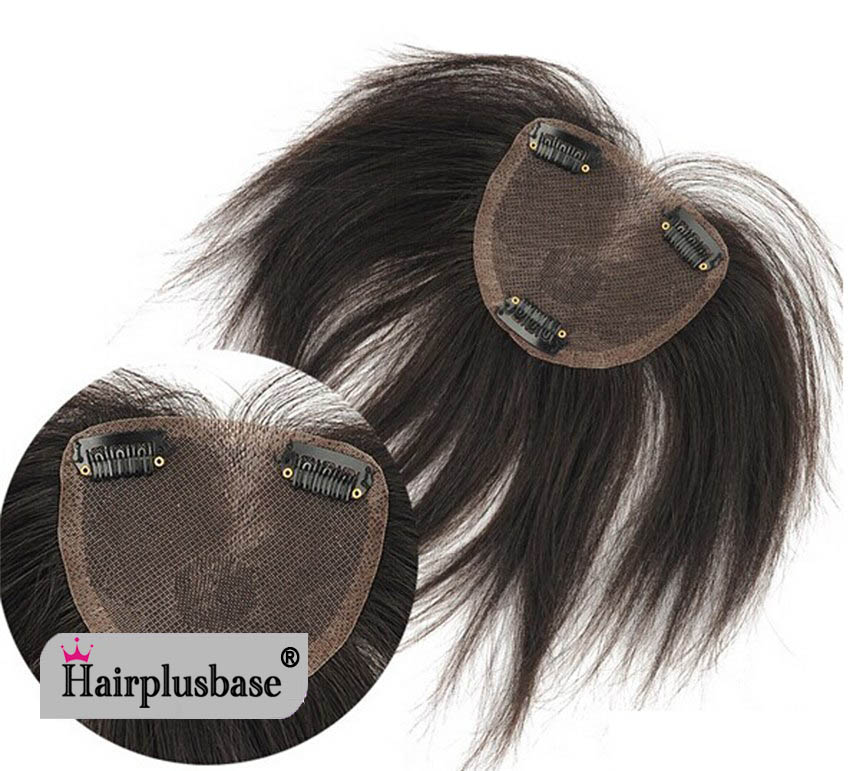 100% Human Hair Top Hairpiece Shading Hand Woven For Woman