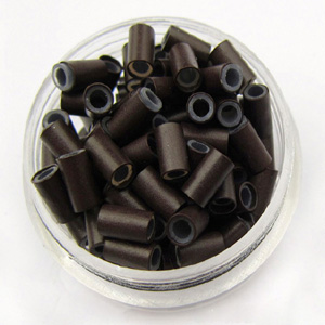1000pcs Black Copper Silicone Beads for Hair Extensions