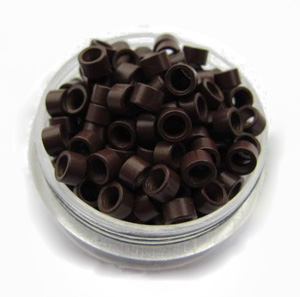 1000pcs Brown Aluminium Spiral Links for Hair Extensions