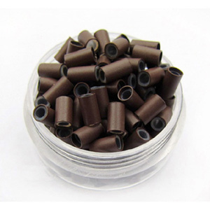 1000pcs Brown Copper Silicone Beads for Hair Extensions