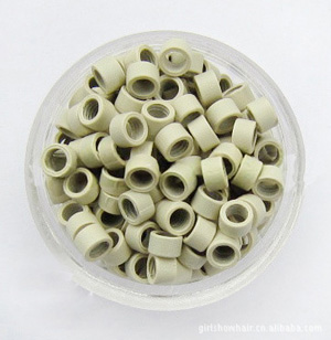 1000pcs Creamy White Aluminium Spiral Links for Hair Extensions