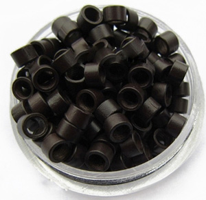 1000pcs Dark Brown Aluminium Spiral Links for Hair Extensions