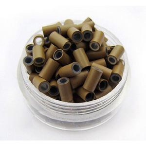 1000pcs Light Brown Copper Silicone Beads for Hair Extensions