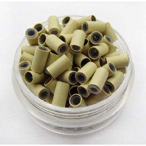 1000pcs White Blonde Copper Silicone Beads for Hair Extensions