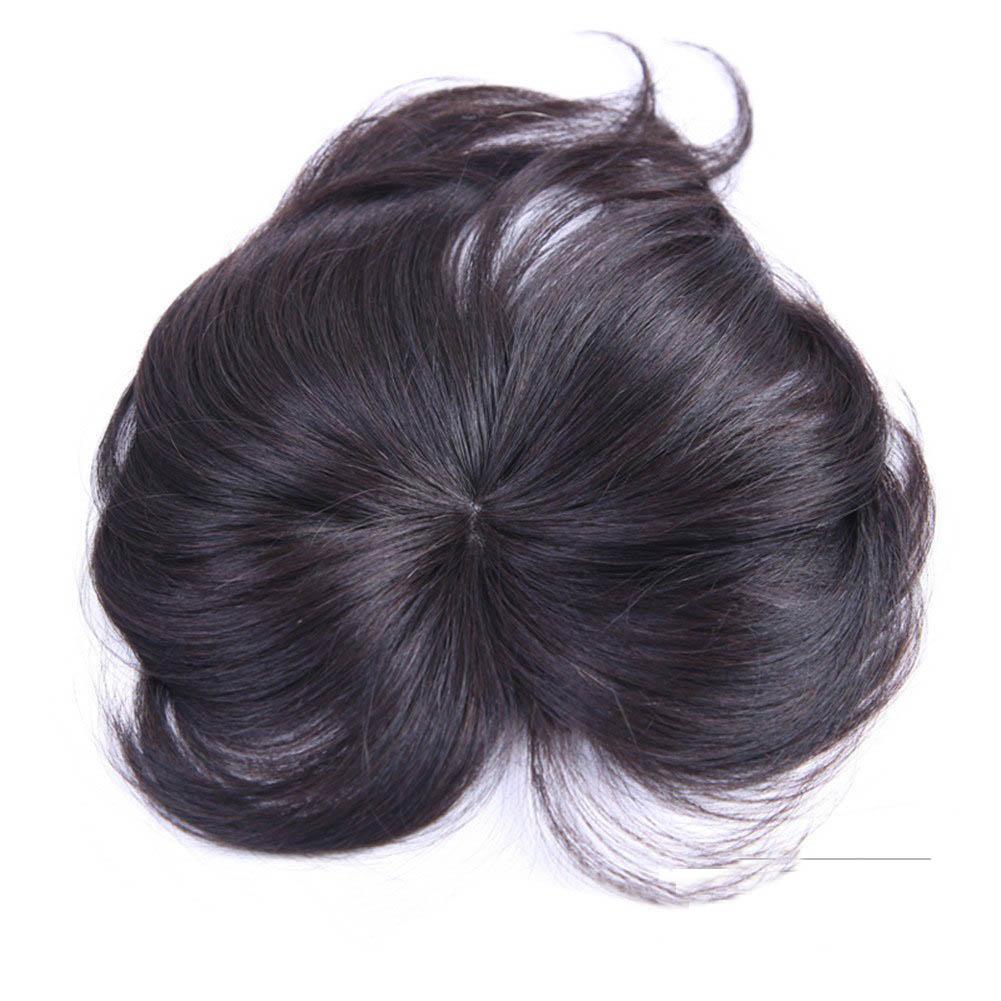 11*12 100% Virgin Human Hair Bangs Clip In Hair Top Piece Extensions Seamless Hair Top Piece