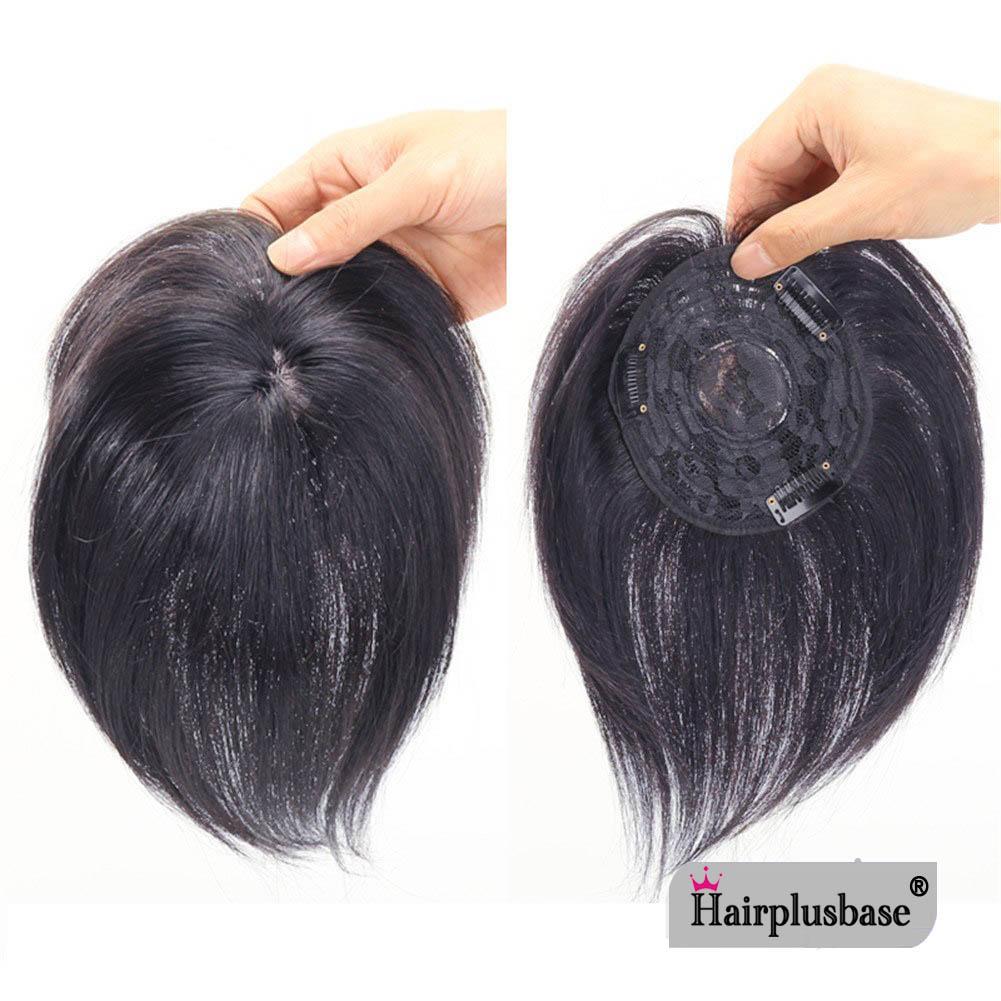 11*12 100% Virgin Human Hair Bangs Clip In Hair Top Piece Extensions Seamless Hair Top Piece 1
