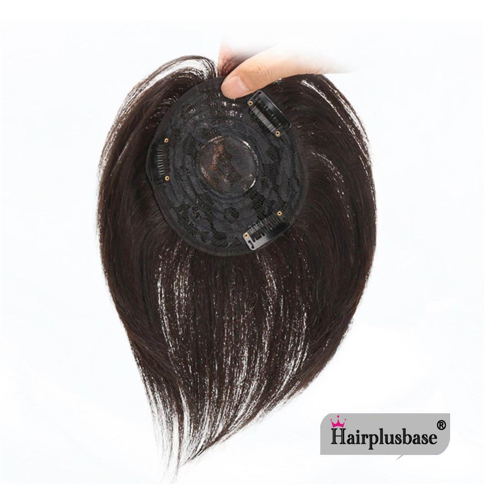 11*12 100% Virgin Human Hair Bangs Clip In Hair Top Piece Extensions Seamless Hair Top Piece 2