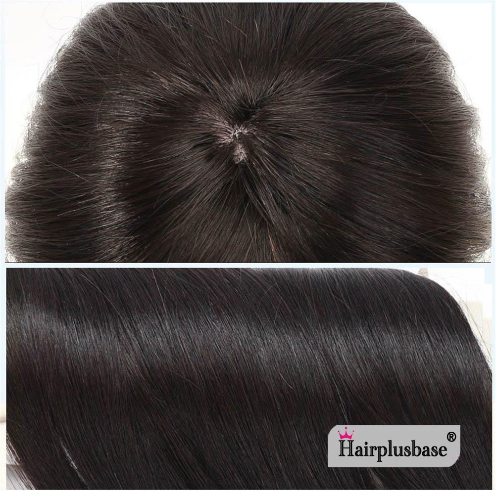 11*12 100% Virgin Human Hair Bangs Clip In Hair Top Piece Extensions Seamless Hair Top Piece 3