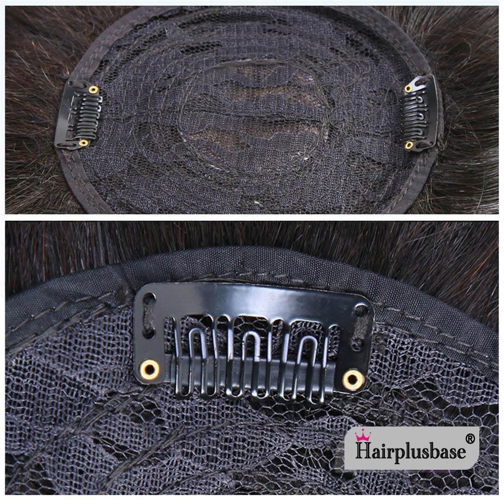 11*12 100% Virgin Human Hair Bangs Clip In Hair Top Piece Extensions Seamless Hair Top Piece 4
