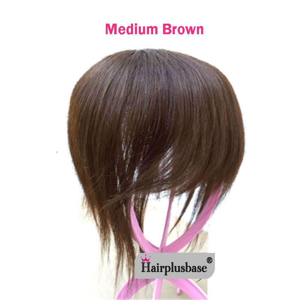 11*12 100% Virgin Human Hair Bangs Clip In Hair Top Piece Extensions Seamless Hair Top Piece 5