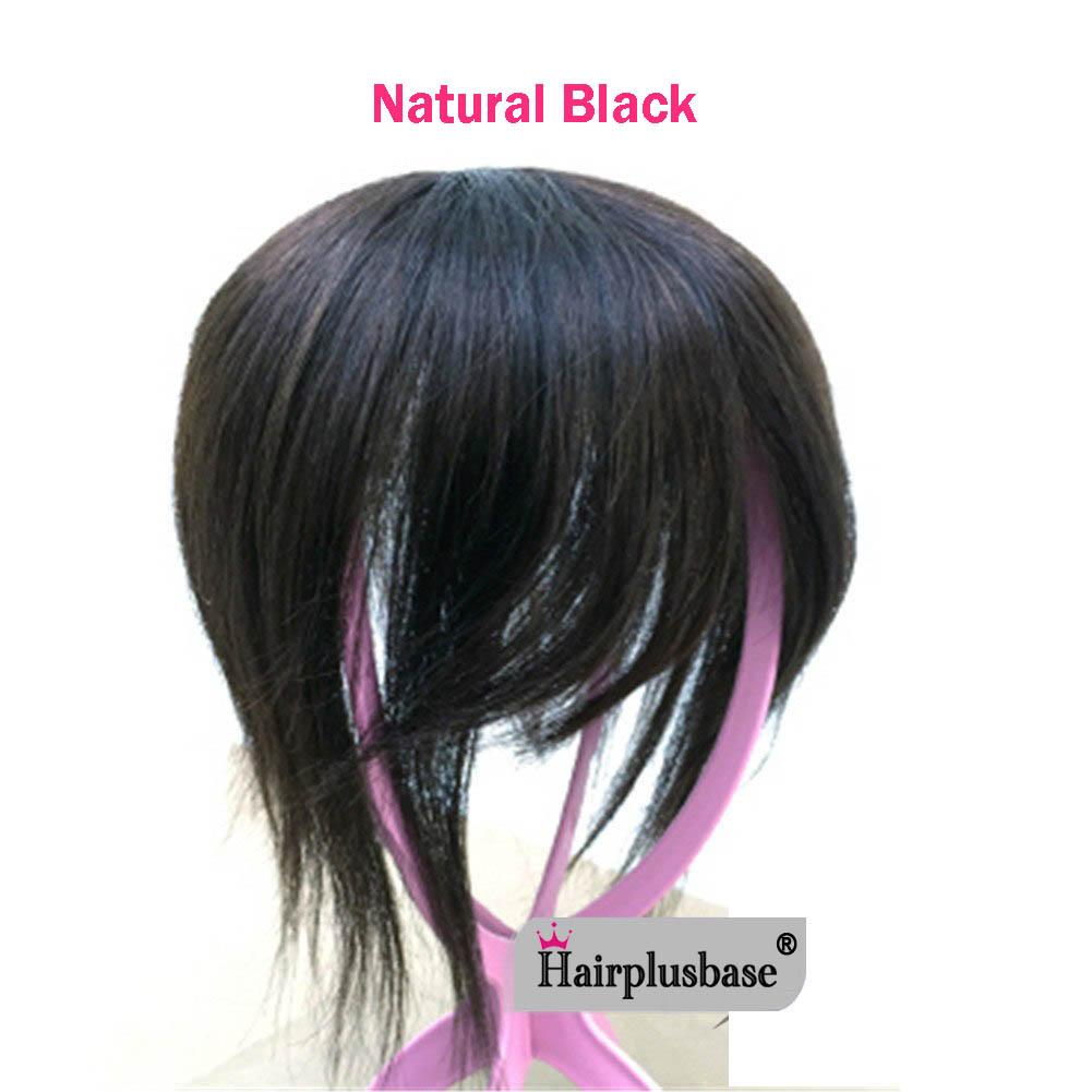 11*12 100% Virgin Human Hair Bangs Clip In Hair Top Piece Extensions Seamless Hair Top Piece 6