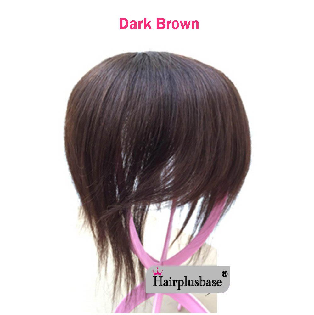 11*12 100% Virgin Human Hair Bangs Clip In Hair Top Piece Extensions Seamless Hair Top Piece 7