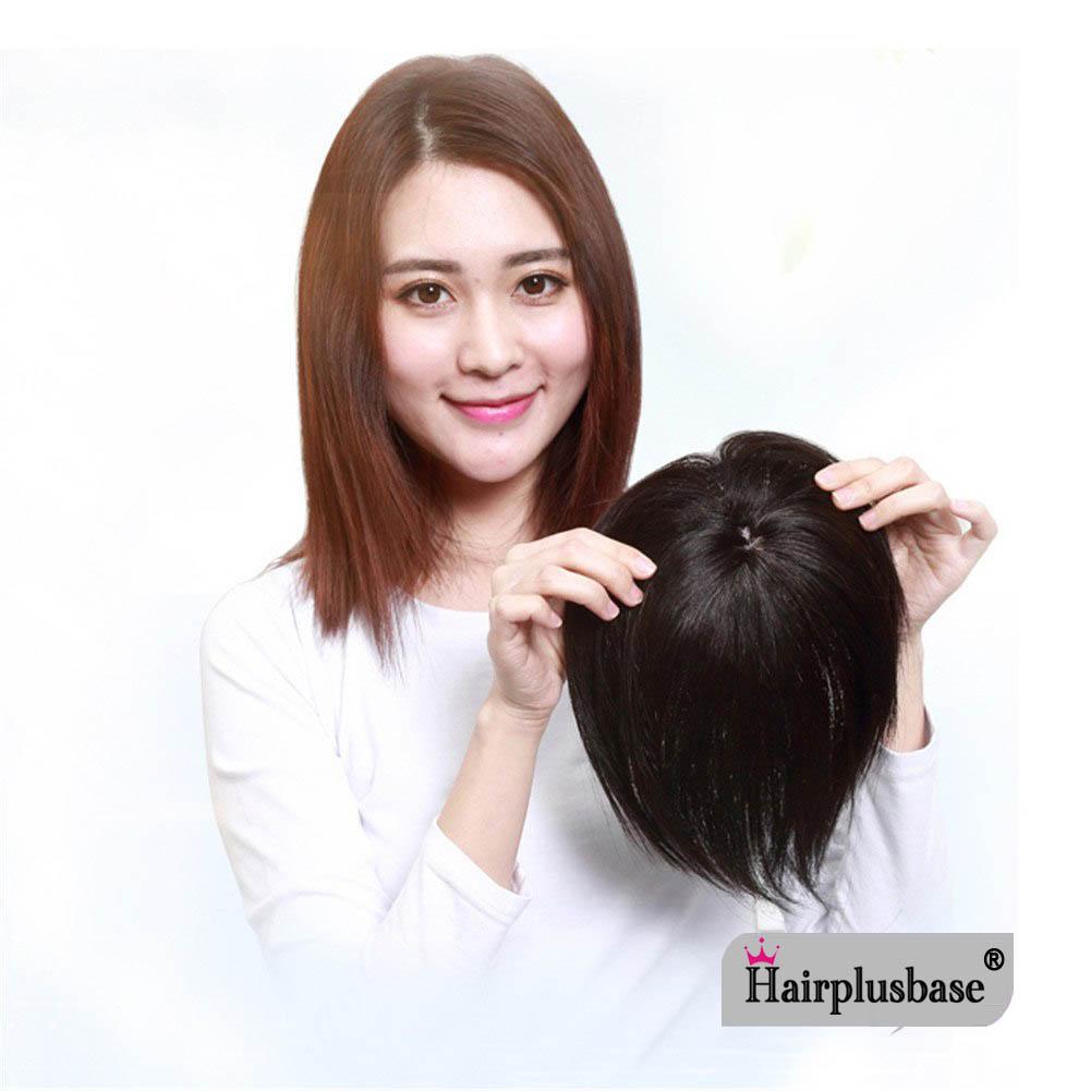 11*12 100% Virgin Human Hair Bangs Clip In Hair Top Piece Extensions Seamless Hair Top Piece 8