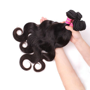 "12"" - 34"" Brazilian Virgin Hair Body Wave #1B Natural Black 1pc/4pcs"