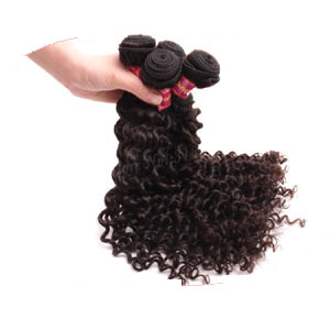 "12"" - 34"" Brazilian Virgin Hair Curly #1B Natural Black 1pc/4pcs"