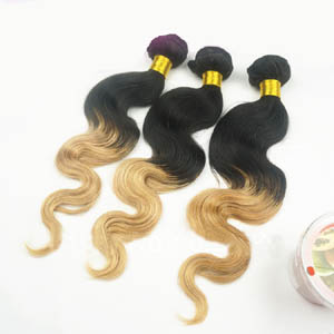 "12"" - 34"" Ombre Brazilian Remy Hair Body Wave Two Tone Wefts"