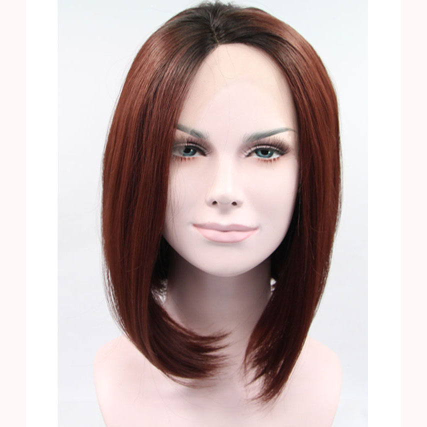 12 Inch Dark Boots Ombre Bob Synthetic Lace Front Wig