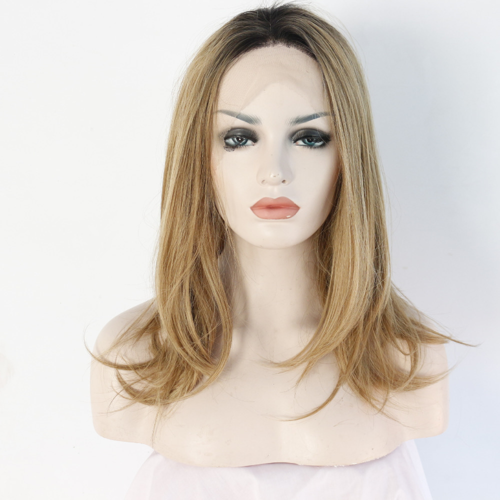 12 Inch Fashion Handmade Ombre Synthetic Lace Front Wigs