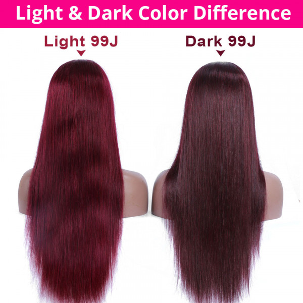 14 - 32 Inch Ombre Body Wave Human Hair Ponytail Wrap Around Ponytail Extensions #1B/Light 99J Color