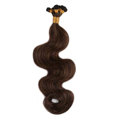 14 - 30 Inch Hand Tied Hair Extensions Body Wave Human Hair Wefts 6 Bundles/Pack