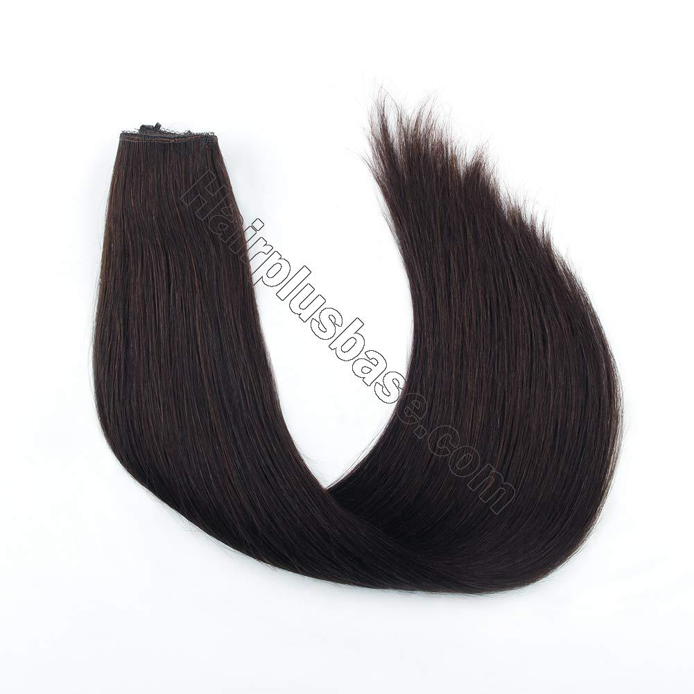 14 - 32 Inch Halo Hair Extensions #2 Black Brown Body Wave/Straight 2