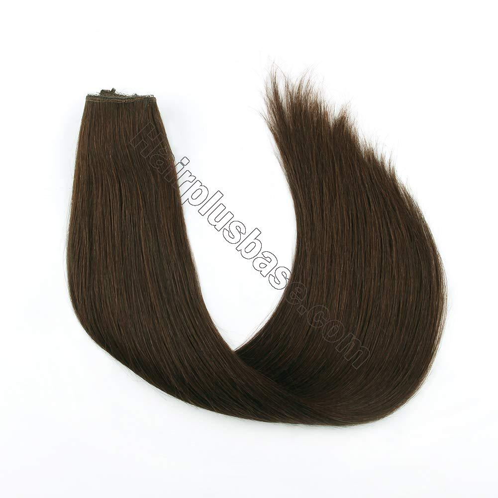 14 - 32 Inch Halo Hair Extensions #4 Medium Brown Body Wave/Straight 3