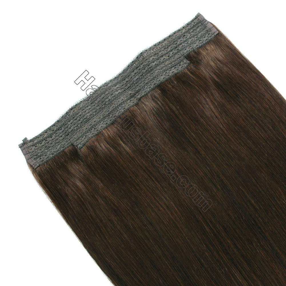 14 - 32 Inch Halo Hair Extensions #4 Medium Brown Body Wave/Straight 5