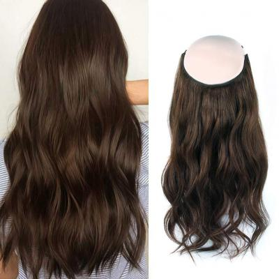 14 - 32 Inch Halo Hair Extensions #4 Medium Brown Body Wave/Straight