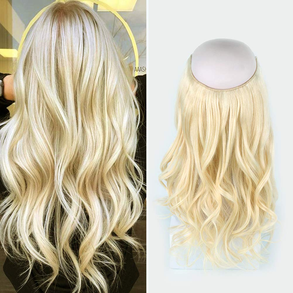 14 - 32 Inch Halo Hair Extensions #60 Body Wave/Straight 9